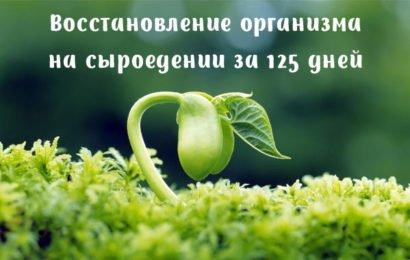Восстановление организма на сыроедении за 125 дней