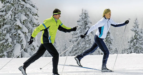 Ходьба на лыжах польза