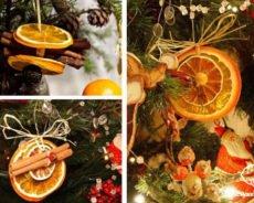 Новогодние украшения из апельсинов и мандаринов