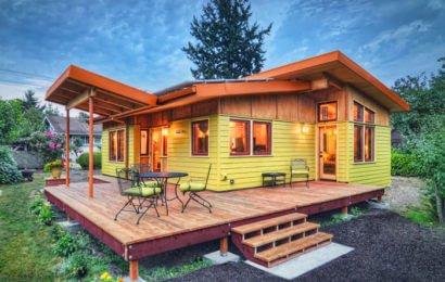 Небольшой, но уютный экодом в Орегоне