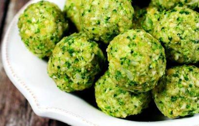 Сыроедческие шарики из брокколи и орехов