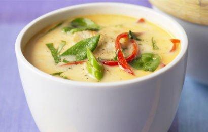 Сыроедный тайский кокосовый суп