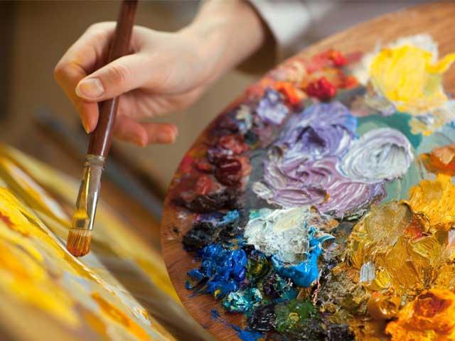 Правополушарное рисование красками