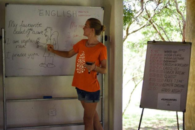 Саша преподает на Университете Sunsurfers в Турции