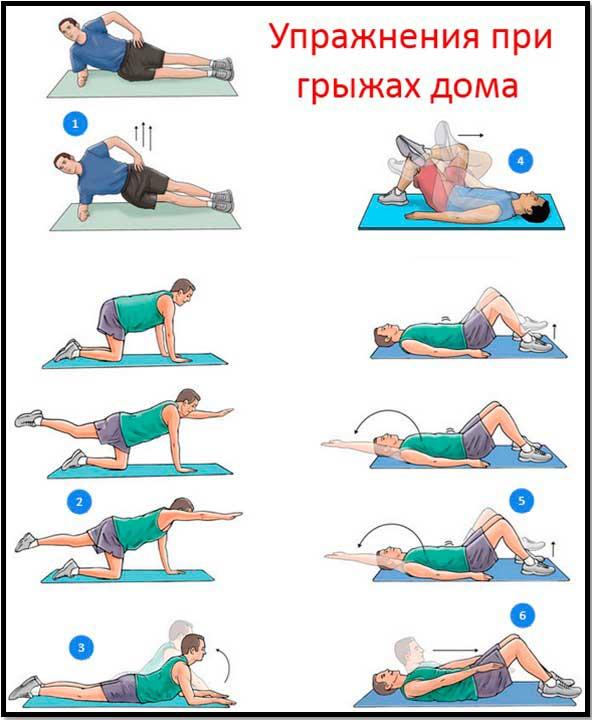ЛФК при поясничной грыже позвоночника – упражнения