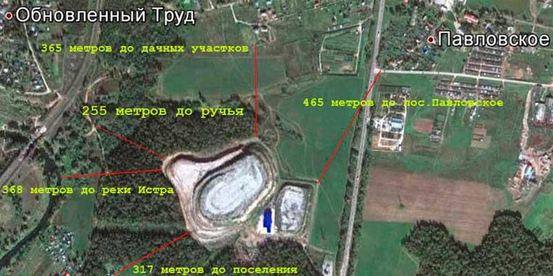 Московская свалка с космоса