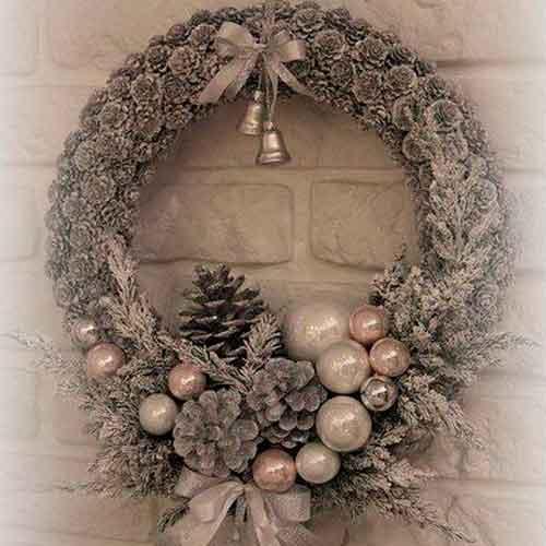 Новогодние украшения в эко стиле - 12