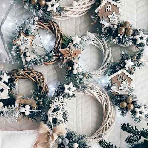 Новогодние украшения в эко стиле - 13