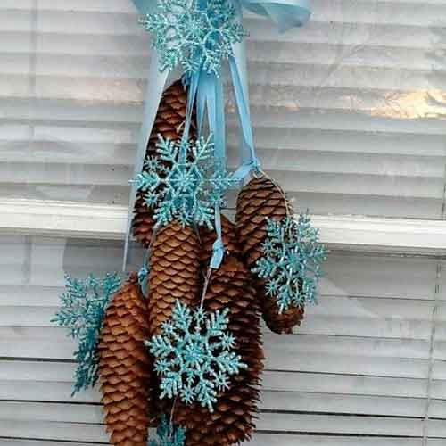 Новогодние украшения в эко стиле - 7