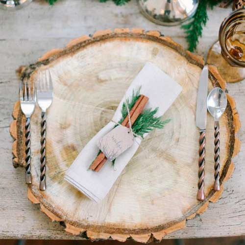 Новогодняя посуда в эко стиле - 1