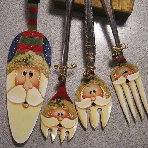 Новогодняя посуда в эко стиле - 12