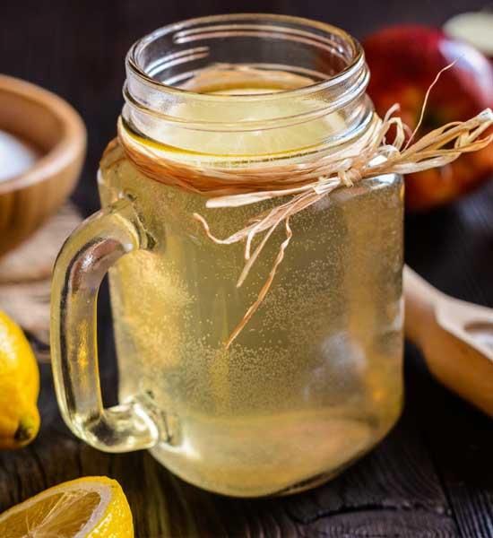 Детокс коктейль: Уксус, яблоко, лимонный сок для сжигания жира