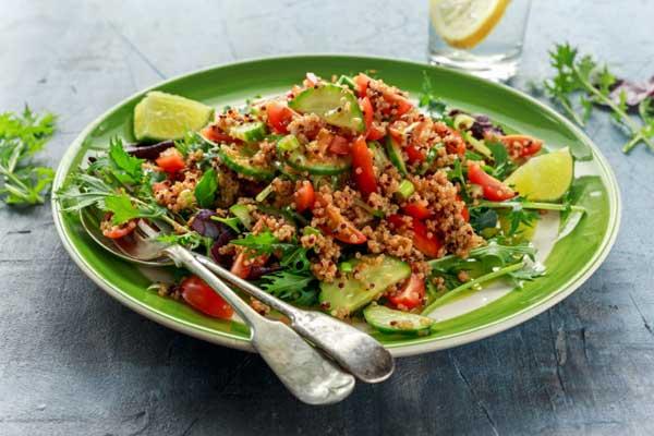 Рецепт вегетарианского салата с киноа