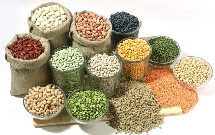 Зерновые, крупы и бобовые, содержащие клетчатку