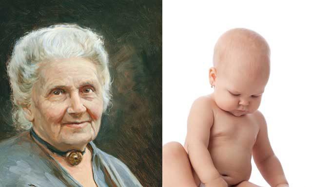 Методика раннего развития ребенка до 1 года Марии Монтессори