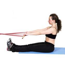 Упражнения с фитнес-резинкой для пресса Упражнение №2