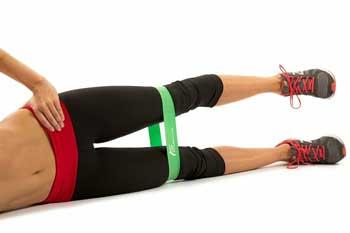 Упражнение №1. для ног с фитнес-резинками