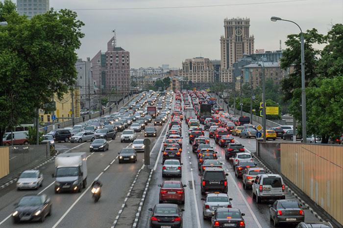 Грязный воздух в Москве