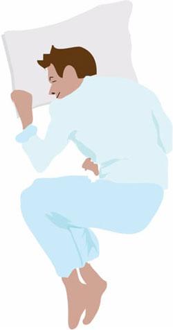 Поза для сна №1. «Эмбрион» или «зародыш»