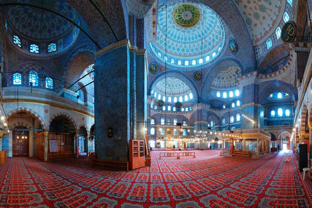 Голубая мечеть в Стамбуле: фото внутри
