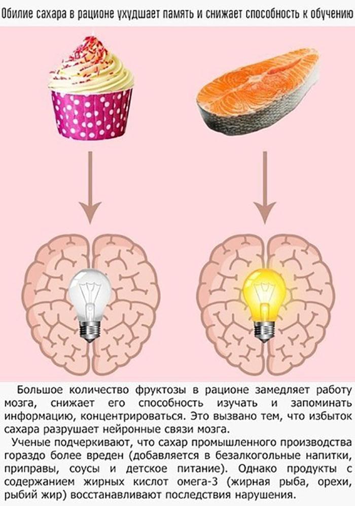 Как влияют сахар на способность к обучению