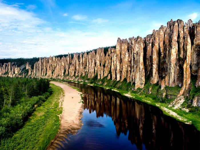 «Ленские столбы» (Якутия), как за границей