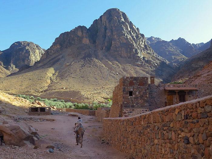 Гора Синай на Синайском полуострове в Египте